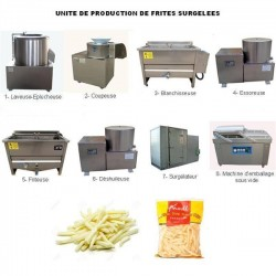 CREEZ UNE UNITE DE PRODUCTION DE FRITES SURGELEES SEMI-AUTOMATIQUE